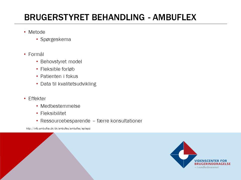 Brugerstyret behandling - ambuflex