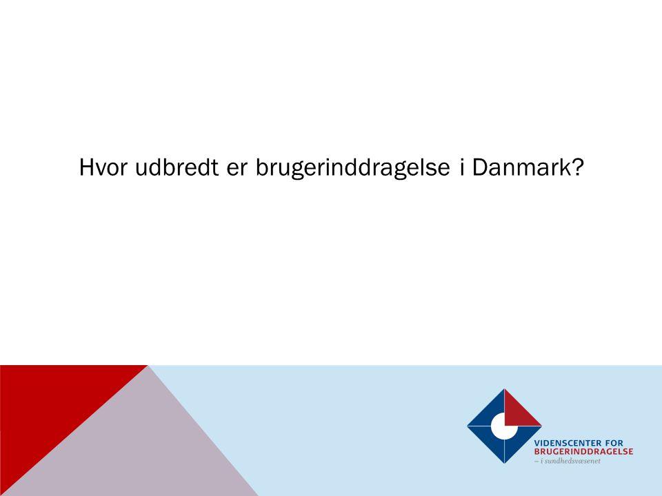 Hvor udbredt er brugerinddragelse i Danmark