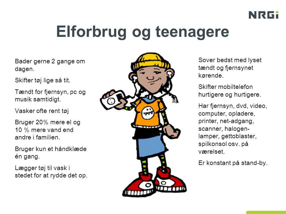Elforbrug og teenagere