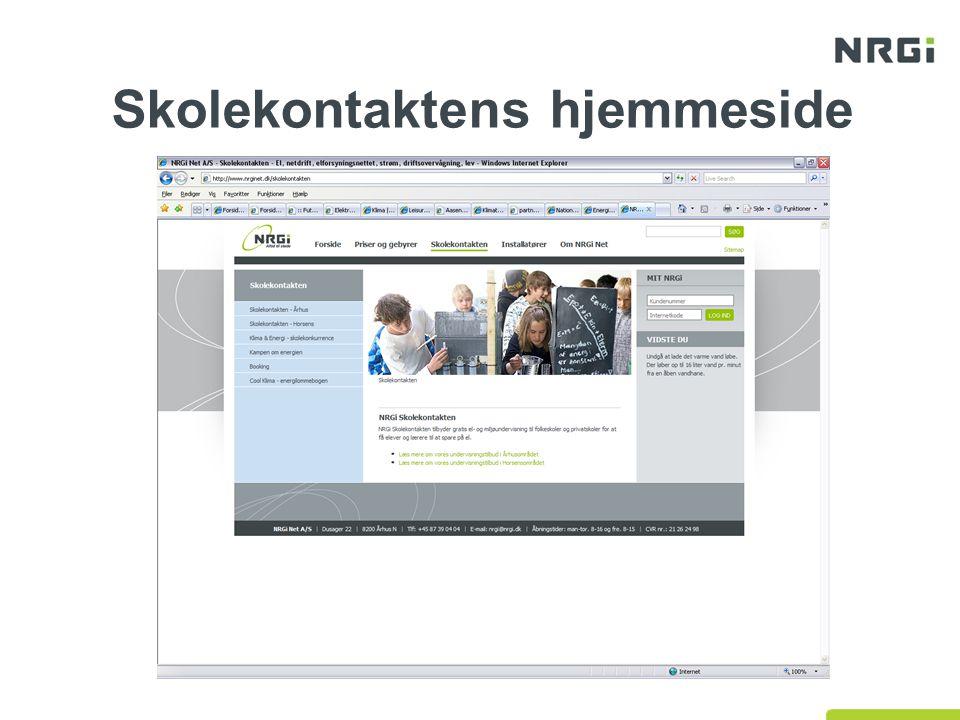 Skolekontaktens hjemmeside