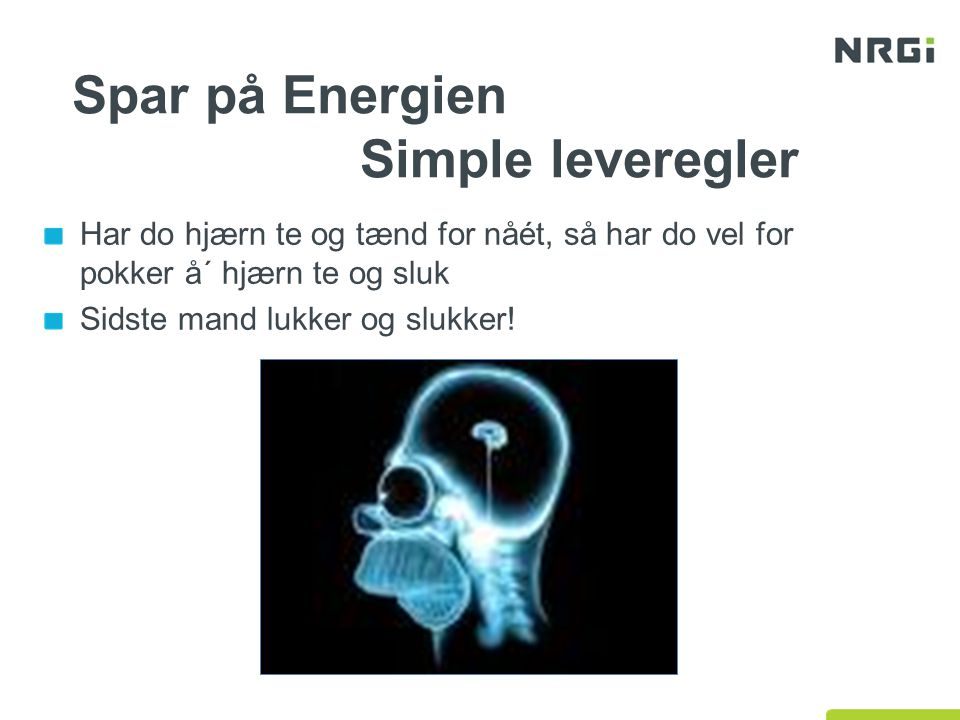 Spar på Energien Simple leveregler