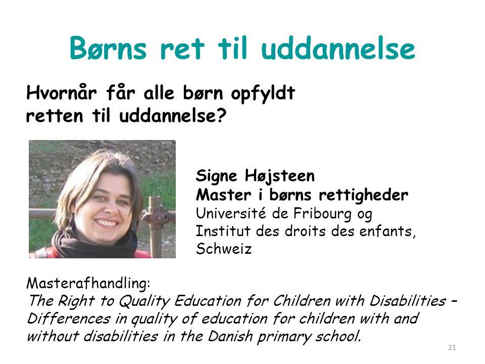 Børns ret til uddannelse