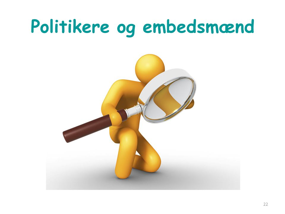 Politikere og embedsmænd
