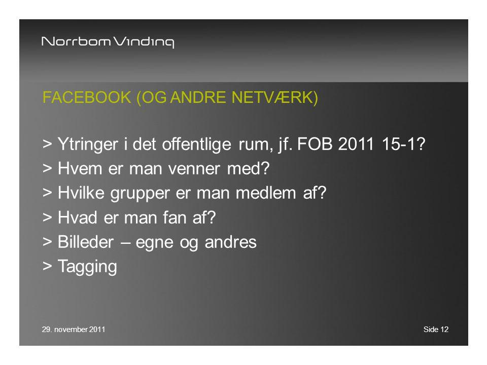 Facebook (OG ANDRE NETVÆRK)