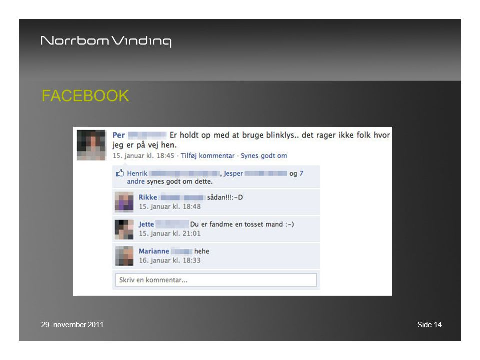 Facebook 29. november 2011