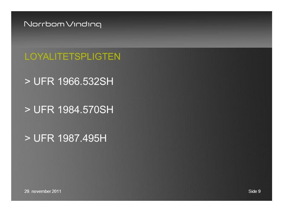 UFR 1966.532SH UFR 1984.570SH UFR 1987.495H Loyalitetspligten