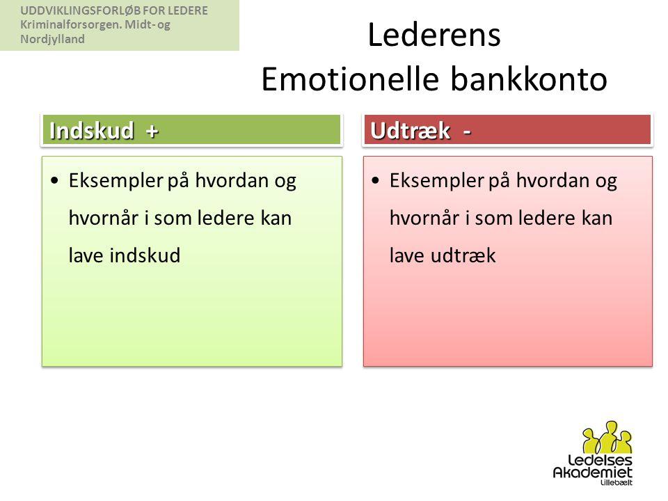Lederens Emotionelle bankkonto