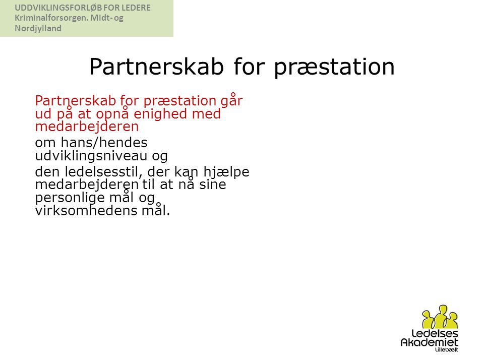 Partnerskab for præstation