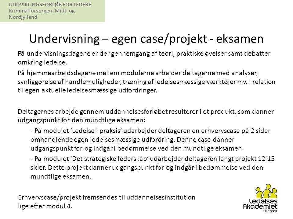 Undervisning – egen case/projekt - eksamen