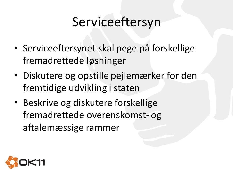 Serviceeftersyn Serviceeftersynet skal pege på forskellige fremadrettede løsninger.