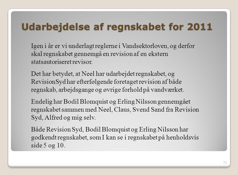 Udarbejdelse af regnskabet for 2011