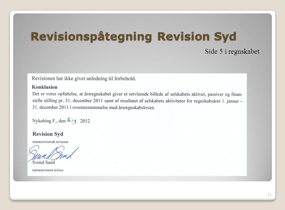 Revisionspåtegning Revision Syd