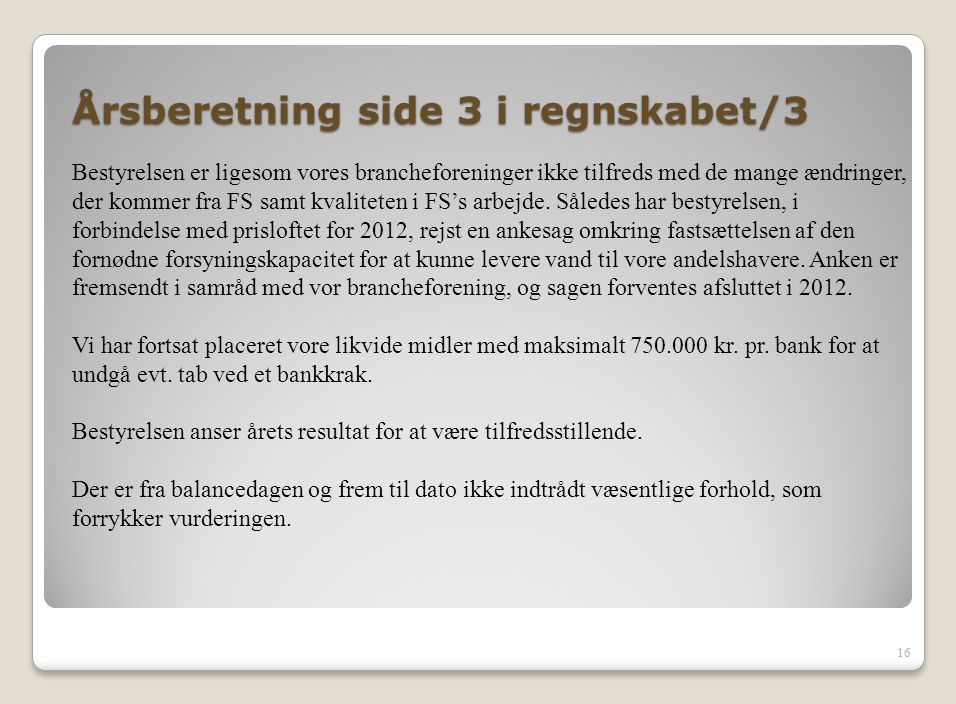 Årsberetning side 3 i regnskabet/3