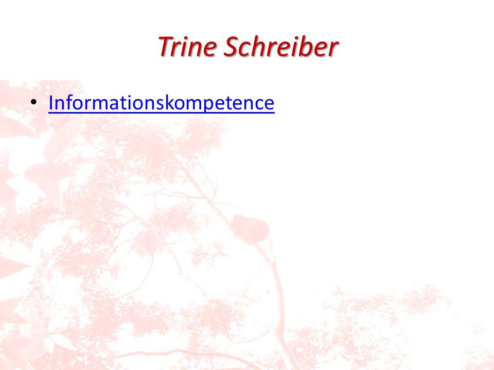 Trine Schreiber Informationskompetence