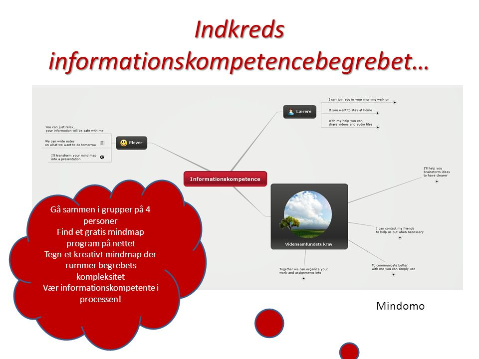 Indkreds informationskompetencebegrebet…