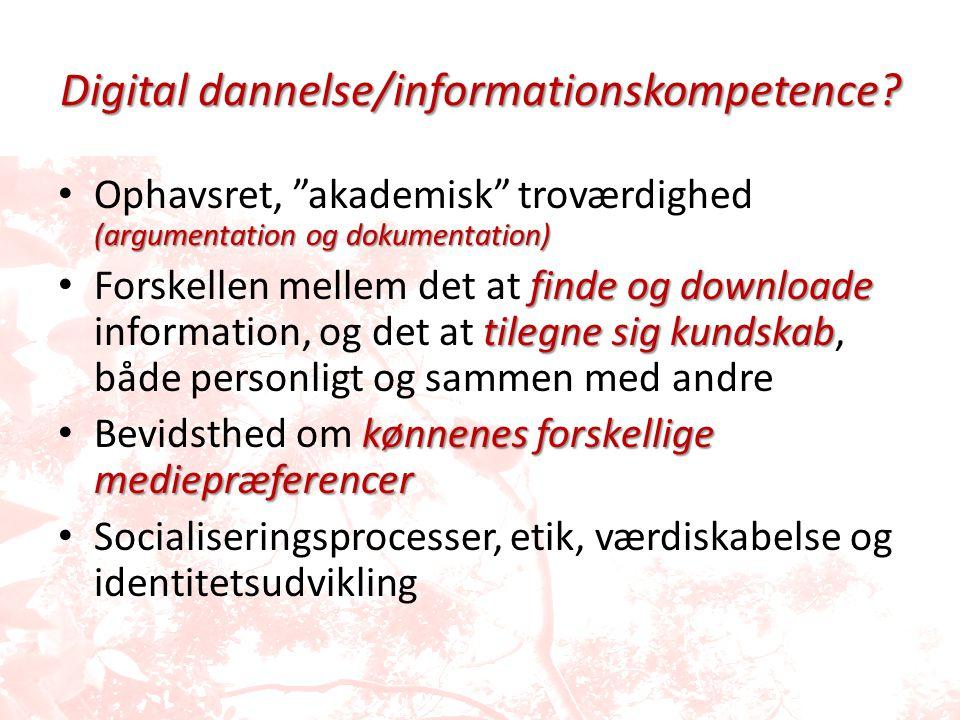 Digital dannelse/informationskompetence