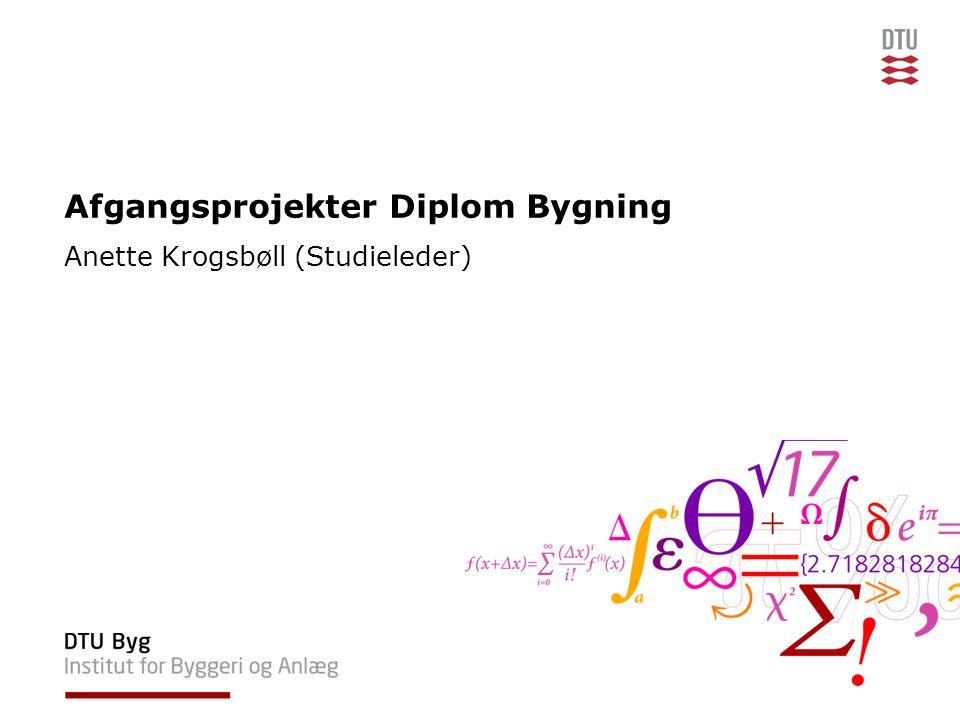 Afgangsprojekter Diplom Bygning