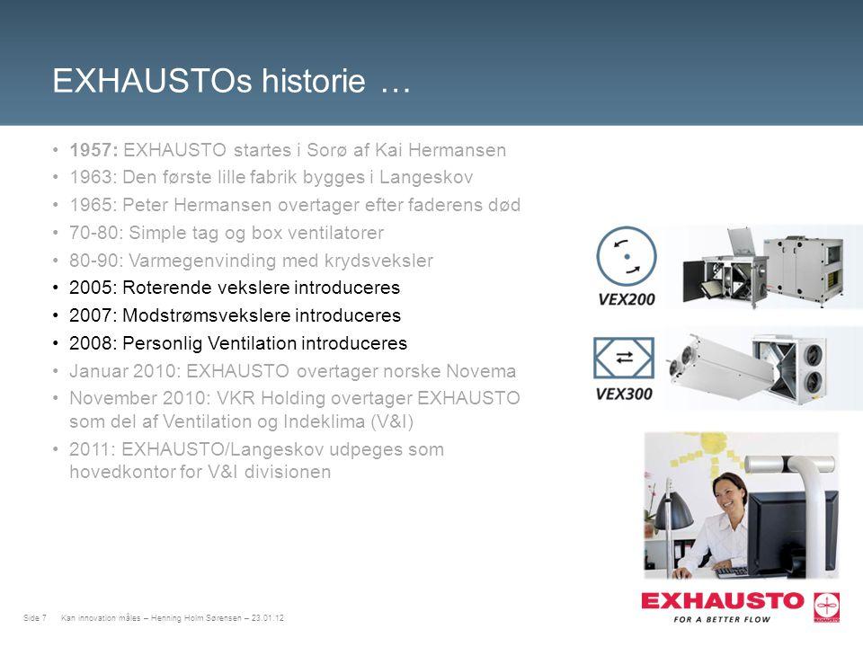 EXHAUSTOs historie … 1957: EXHAUSTO startes i Sorø af Kai Hermansen