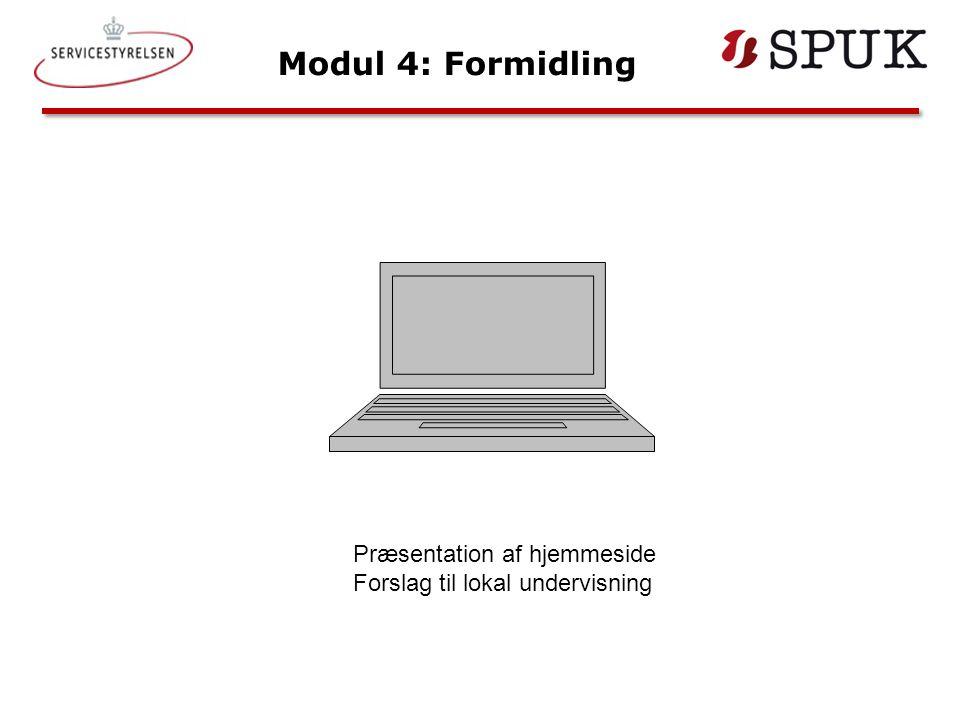 Modul 4: Formidling Præsentation af hjemmeside