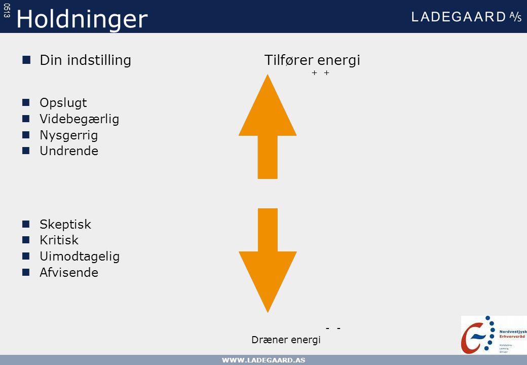 Holdninger Din indstilling Tilfører energi Opslugt Videbegærlig