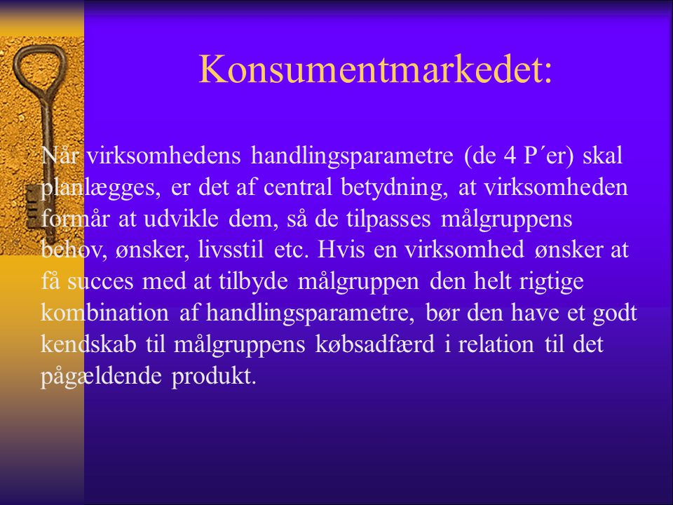 Konsumentmarkedet: