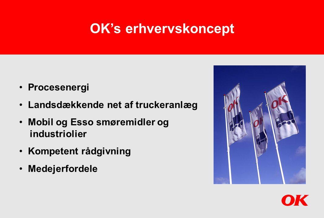 OK's erhvervskoncept Procesenergi Landsdækkende net af truckeranlæg