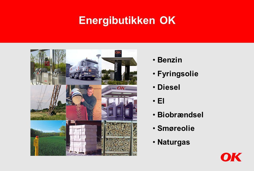 Energibutikken OK Benzin Fyringsolie Diesel El Biobrændsel Smøreolie