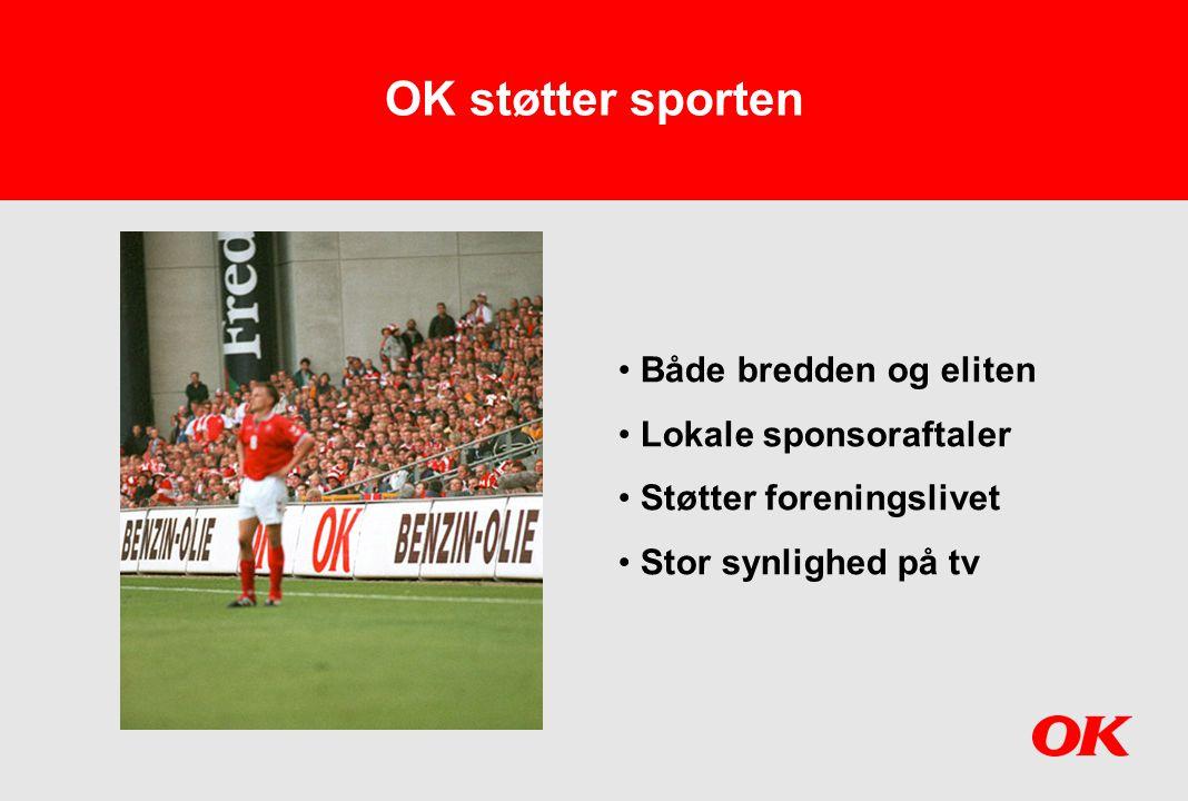 OK støtter sporten Både bredden og eliten Lokale sponsoraftaler