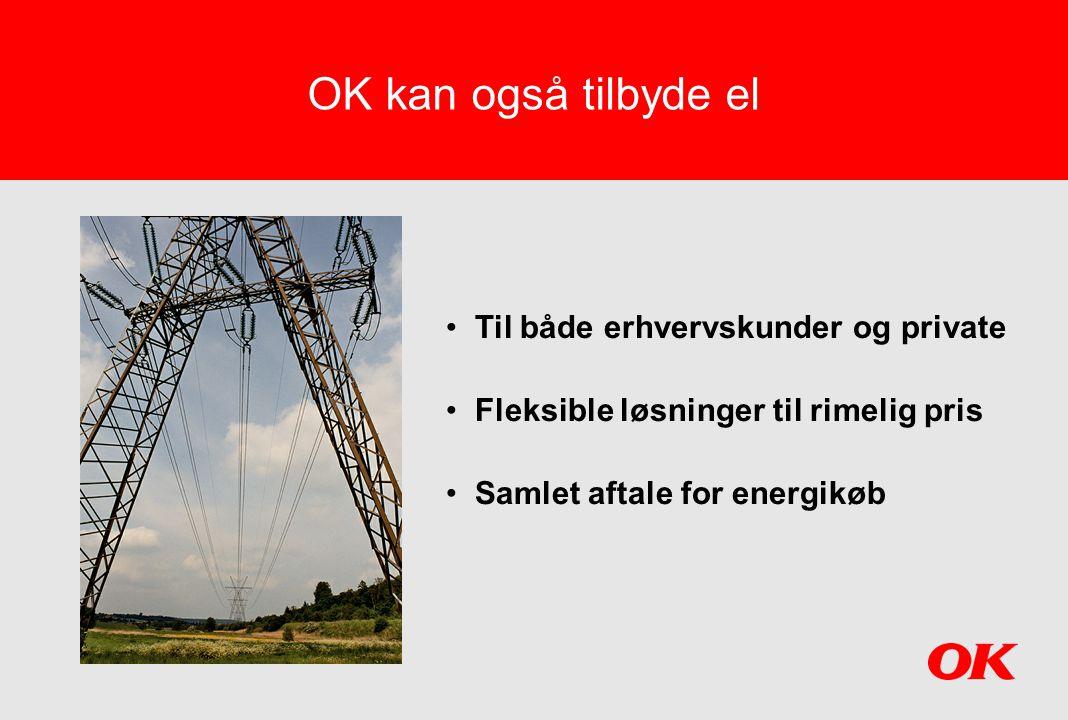 OK kan også tilbyde el Til både erhvervskunder og private
