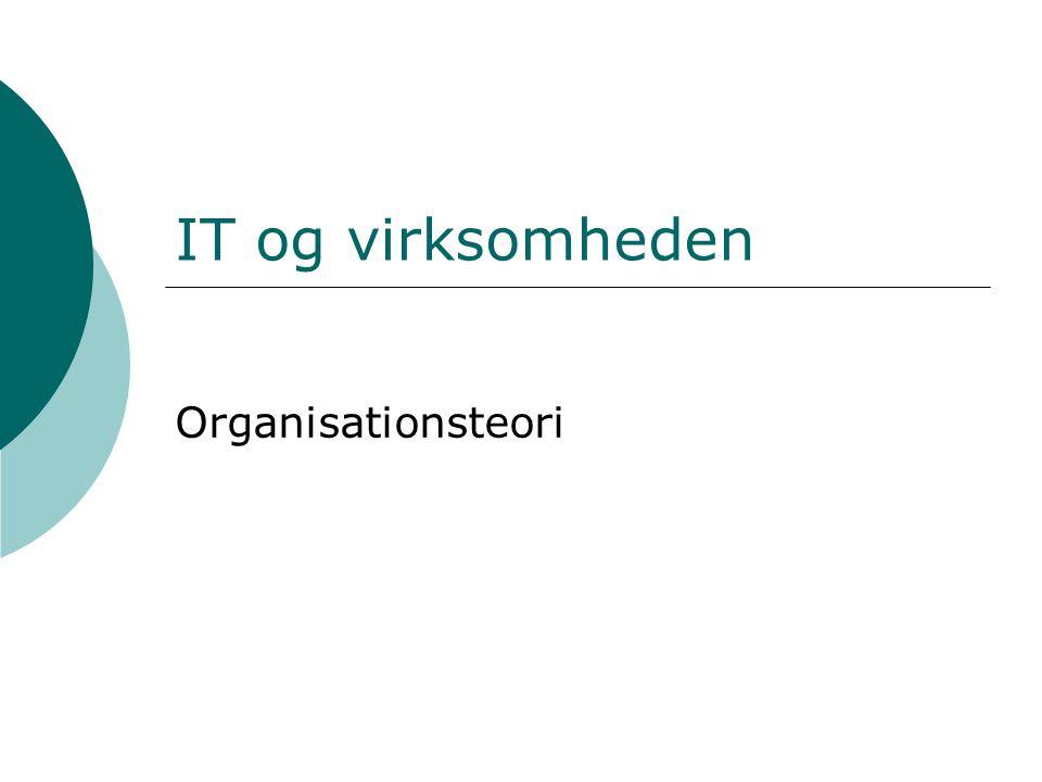 IT og virksomheden Organisationsteori