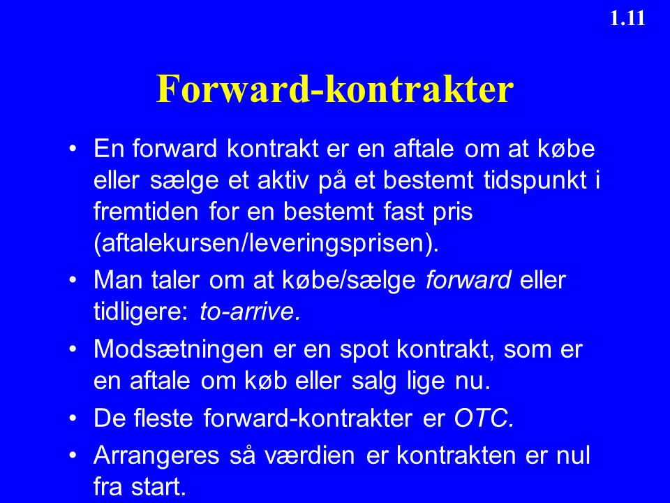 Forward-kontrakter