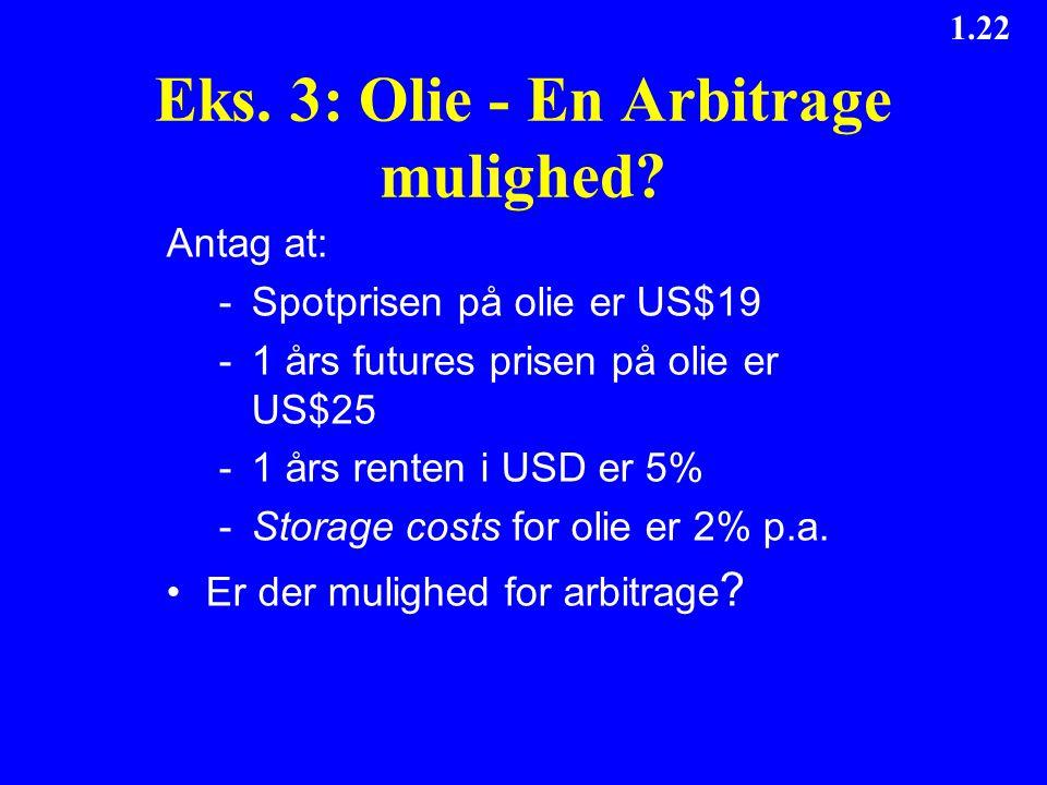 Eks. 3: Olie - En Arbitrage mulighed
