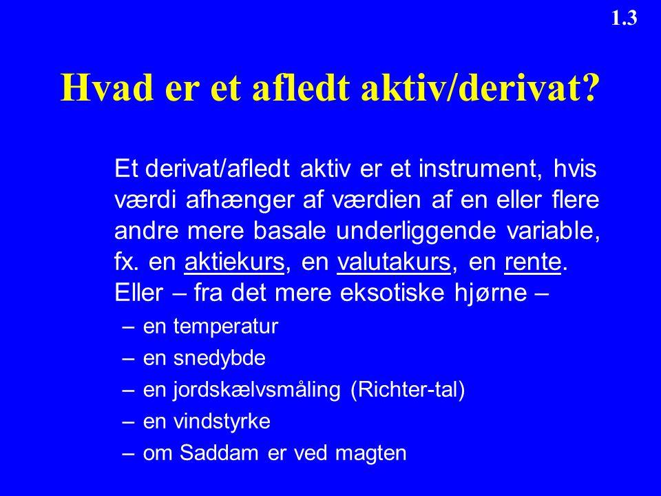 Hvad er et afledt aktiv/derivat