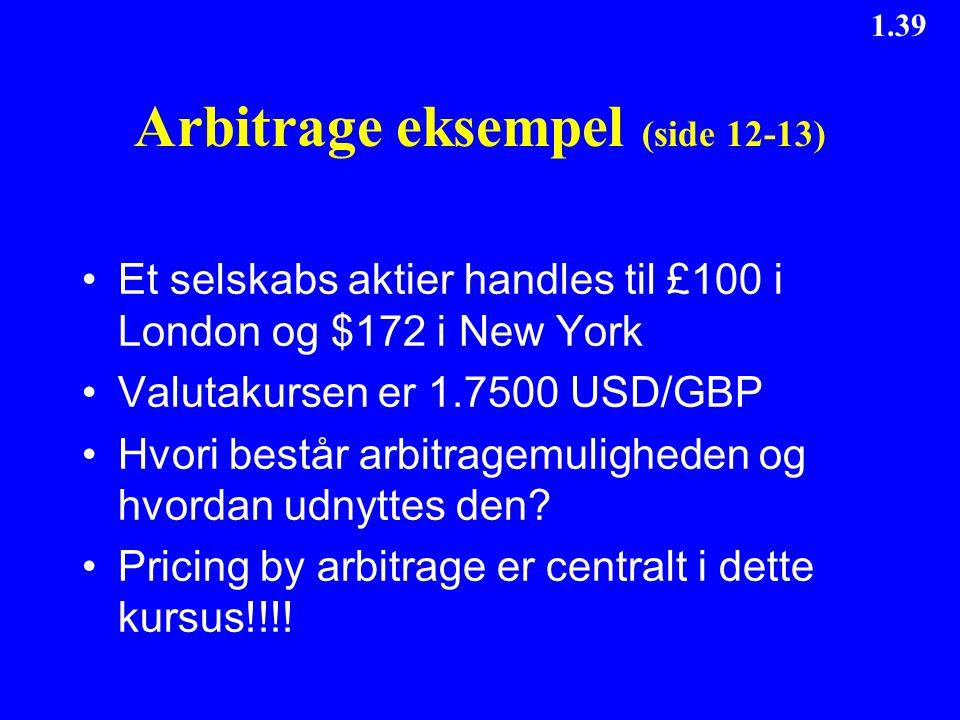Arbitrage eksempel (side 12-13)