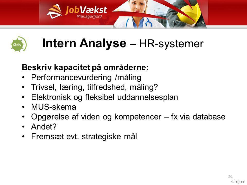 Intern Analyse – HR-systemer