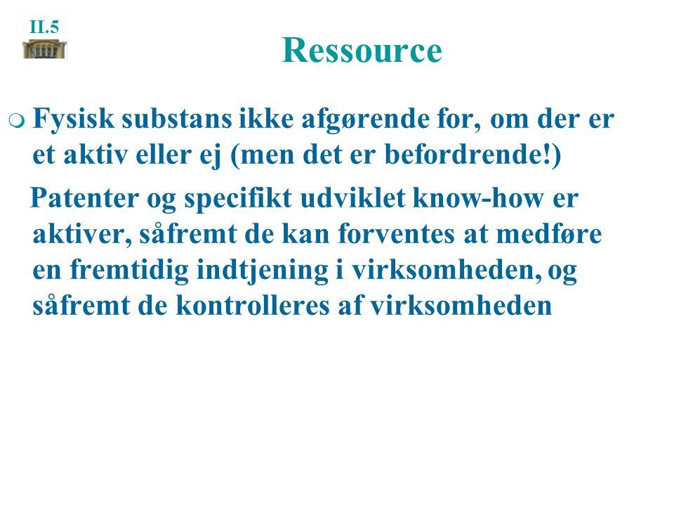 Ressource Fysisk substans ikke afgørende for, om der er et aktiv eller ej (men det er befordrende!)