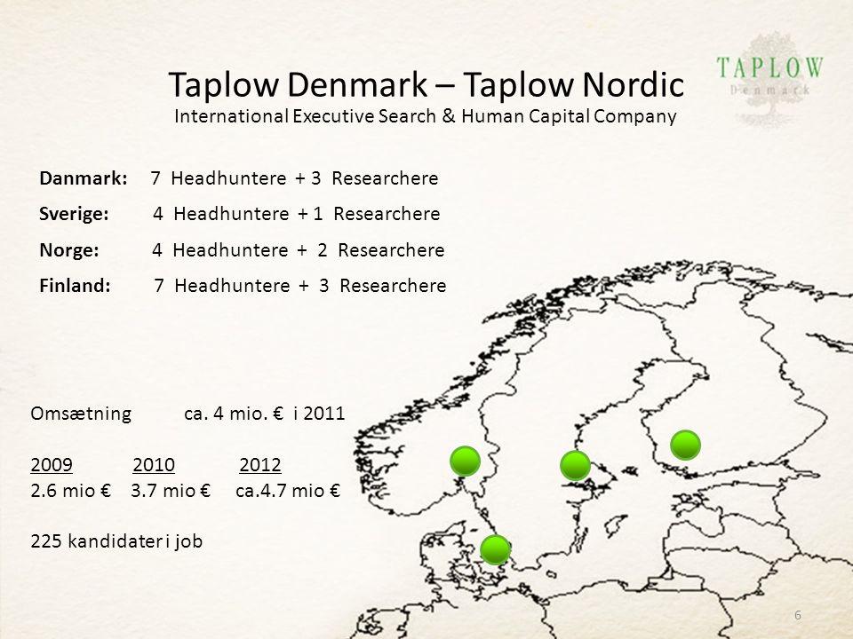 Taplow Denmark – Taplow Nordic