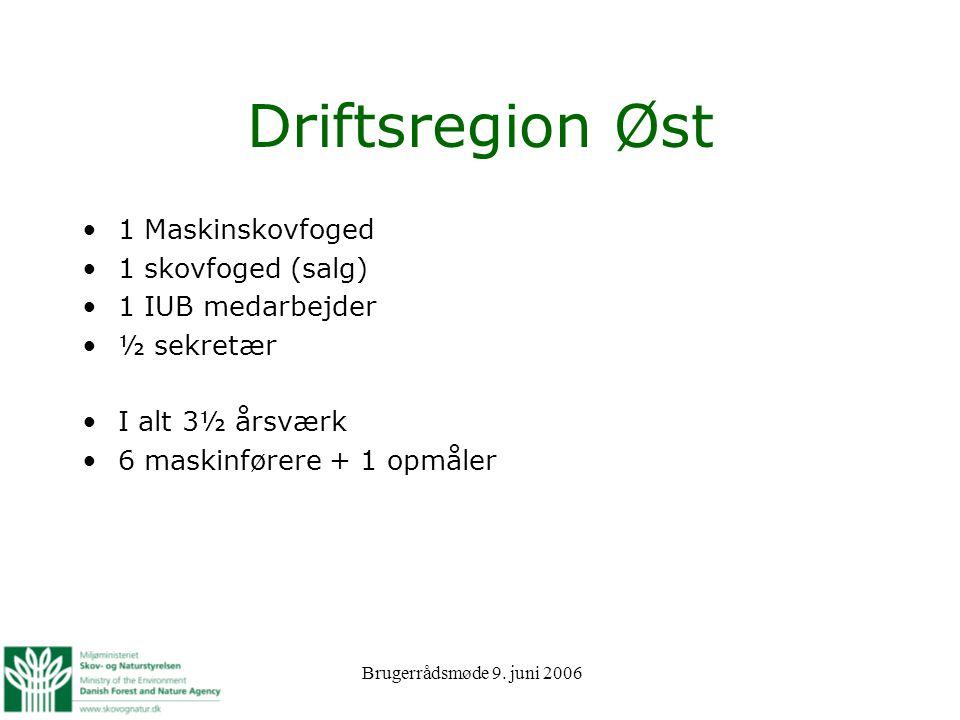 Driftsregion Øst 1 Maskinskovfoged 1 skovfoged (salg)