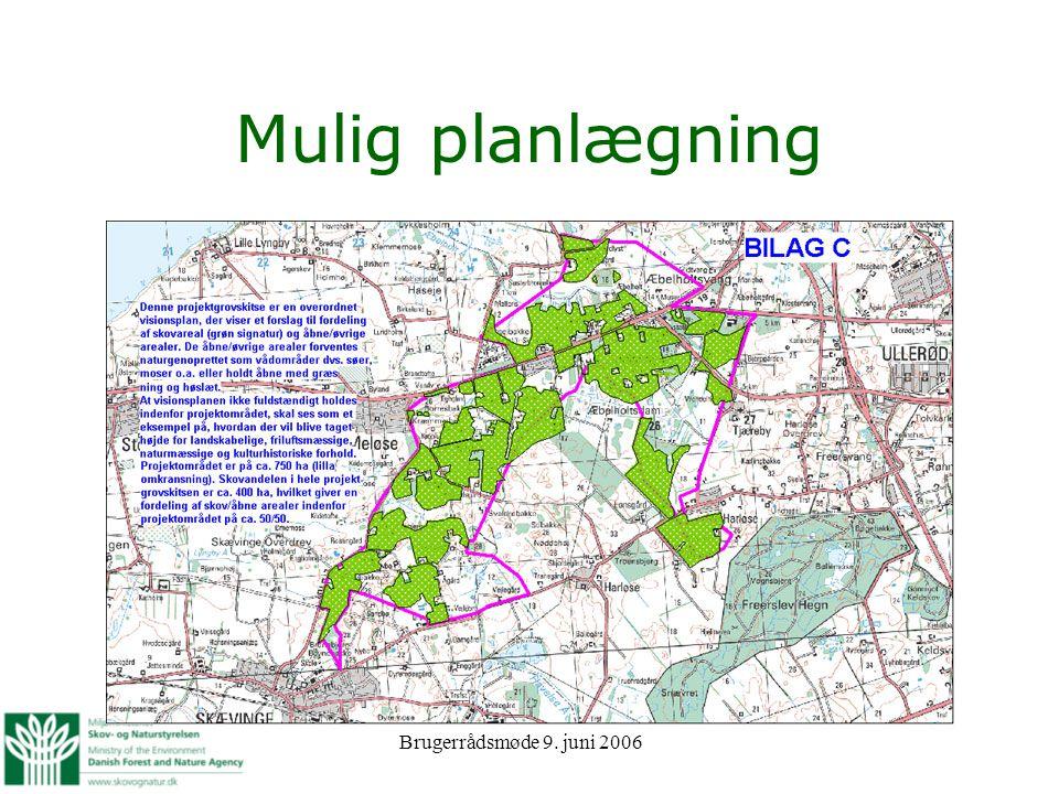 Mulig planlægning Brugerrådsmøde 9. juni 2006