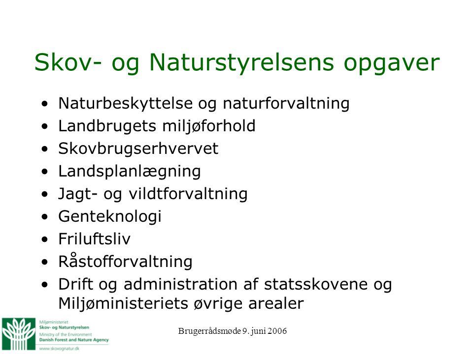 Skov- og Naturstyrelsens opgaver