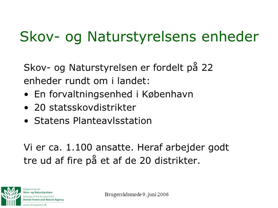 Skov- og Naturstyrelsens enheder