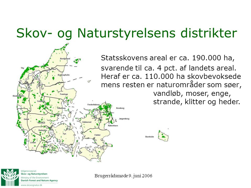 Skov- og Naturstyrelsens distrikter