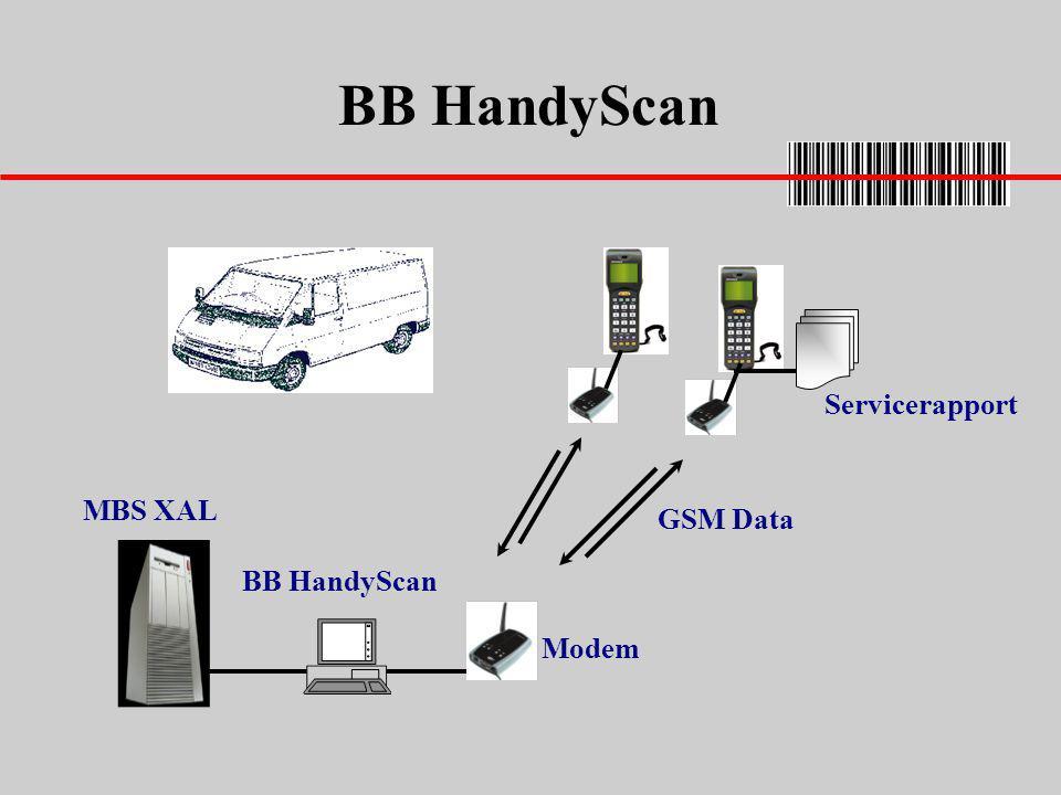 BB HandyScan Servicerapport MBS XAL GSM Data BB HandyScan Modem