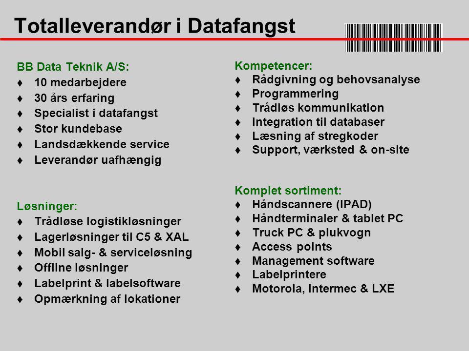 Totalleverandør i Datafangst