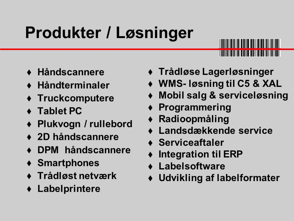 Produkter / Løsninger Håndscannere Trådløse Lagerløsninger