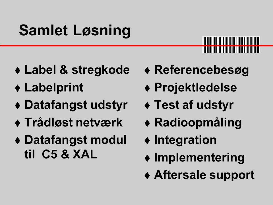 Samlet Løsning Label & stregkode Labelprint Datafangst udstyr