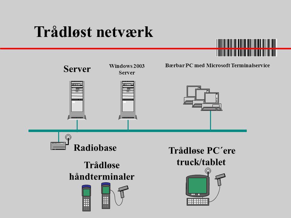 Trådløse PC´ere truck/tablet