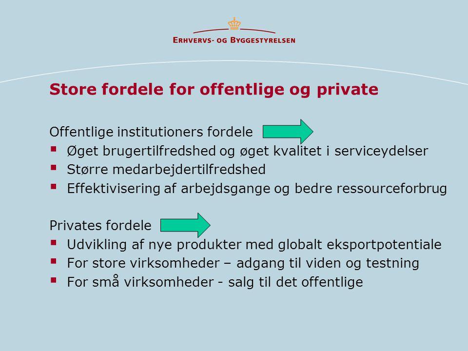 Store fordele for offentlige og private