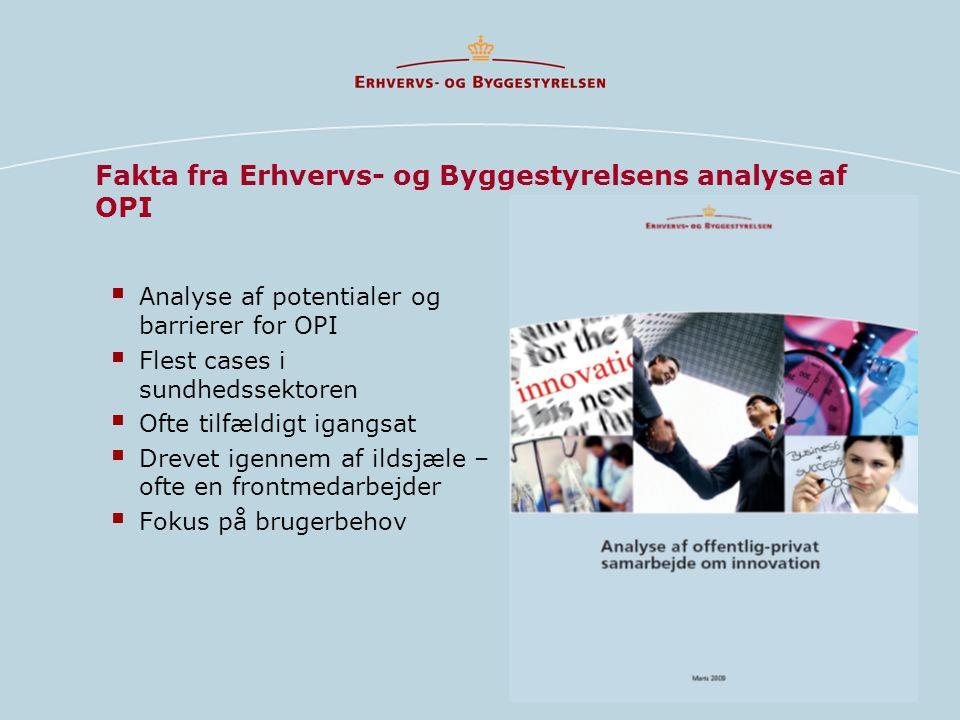 Fakta fra Erhvervs- og Byggestyrelsens analyse af OPI