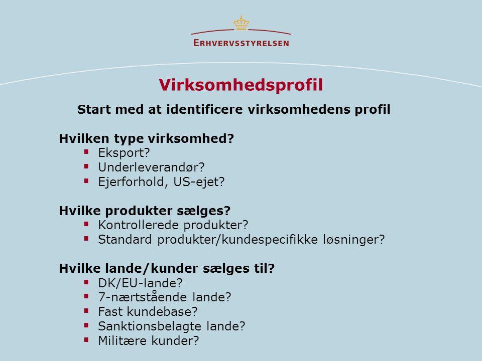 Start med at identificere virksomhedens profil